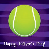 stock photo of deuce  - Bright tennis ball Happy Father - JPG