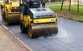 stock photo of paved road  - Road repair - JPG