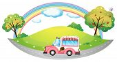 picture of ice-cream truck  - Illustration of an ice cream truck on a white background - JPG