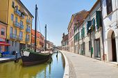 Panoramic view of Comacchio. Emilia Romagna. Italy.