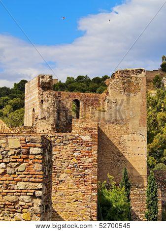Alcazaba In Malaga, Spain