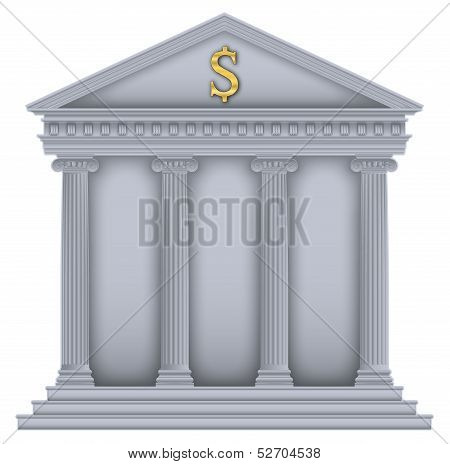 Roman/Greek Temple bank symbol