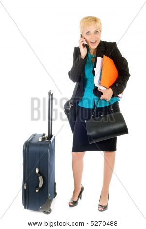 Busy Travel Woman
