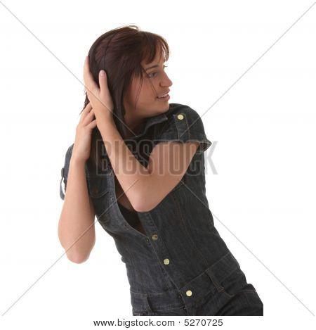 Sexy, Beautiful, Young Woman Dancing