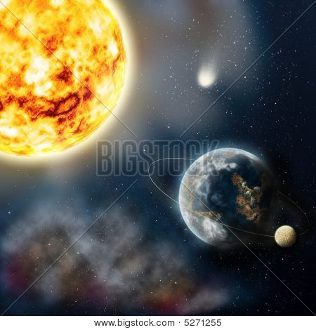 A Planet Is Earth And Sun