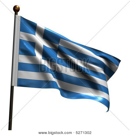 High Resolution Greek Flag