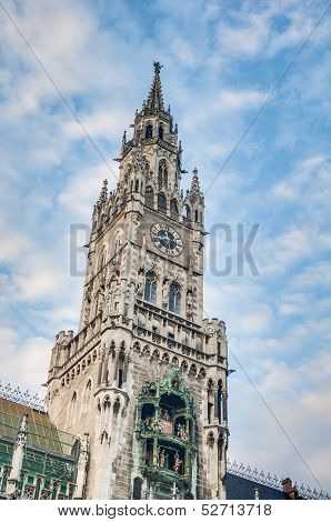 Neues Rathaus Building In Munich, Germany