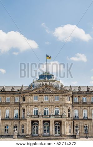 New Palace At Schlossplatz In Stuttgart, Germany