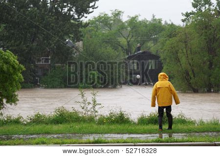 Elbow River Overflows Its Banks