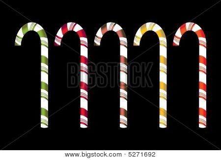 Isolated Candy Canes