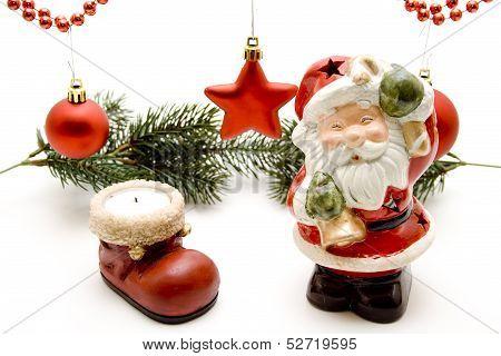 Santa Claus with ceramic boot