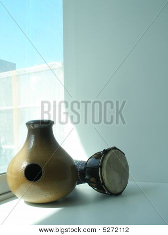 Udu Ethnical African Clay Drum And Djembe