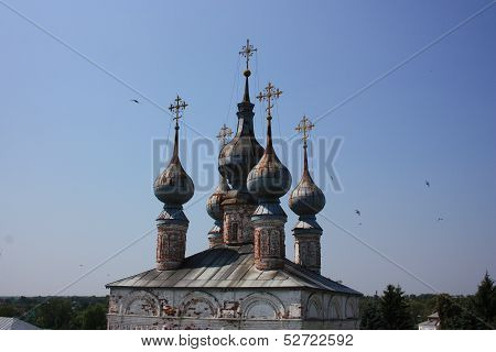 Crosses and domes.