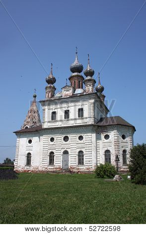 Archangel Michael Cathedral in the Monastery of Archangel Michael. Russia, Yuriev-Polsky