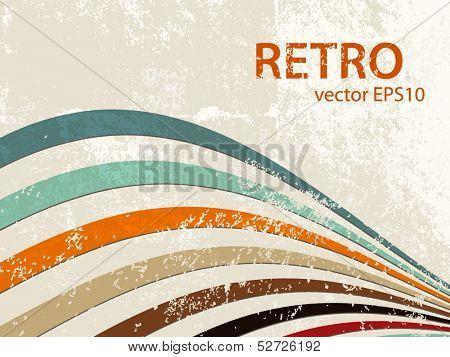 Retro lines - grunge stripe background