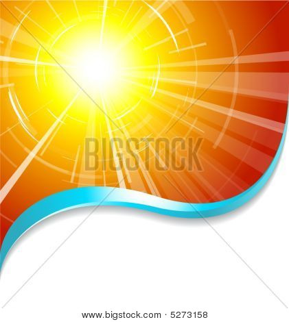 Background With Hot Summer Sun