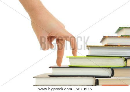 Hand And Book Stairs