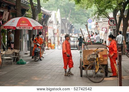 Cleaning the Hutongs of Beijing