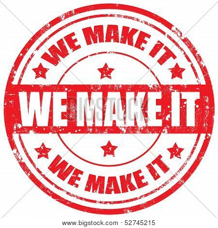We Make It-stamp