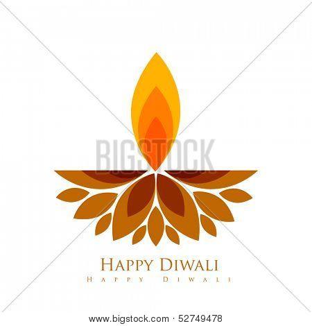 vector creative style diwali festival diya