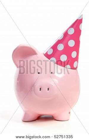 The Pink  Pig In A Cap