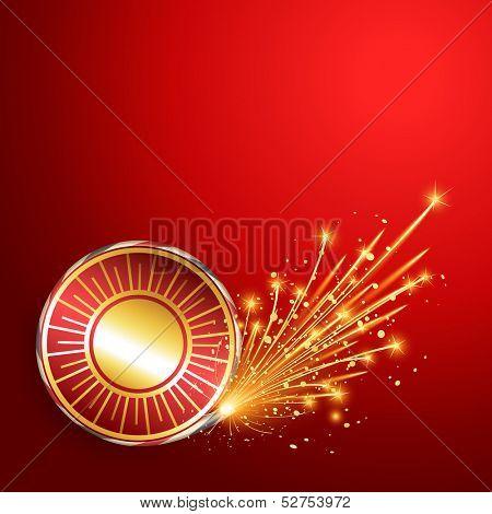 happy diwali burning crackers background