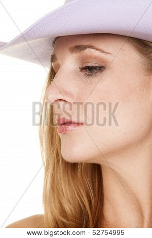 Cowgirl Headshot Side Purple Hat