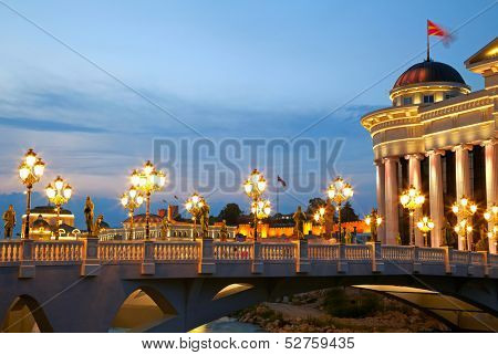 Macedonian's capital city Skopje
