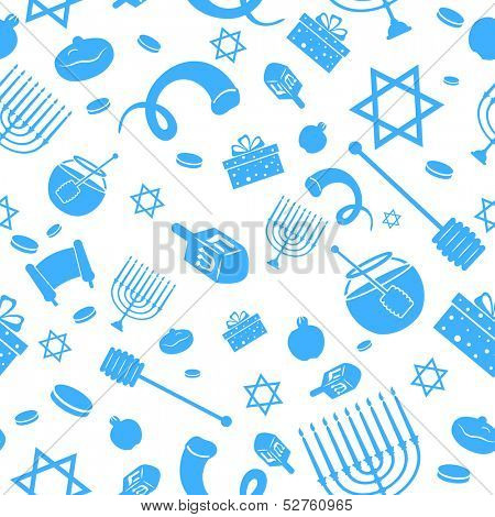 illustration of Seamless Israeli Holiday Pattern