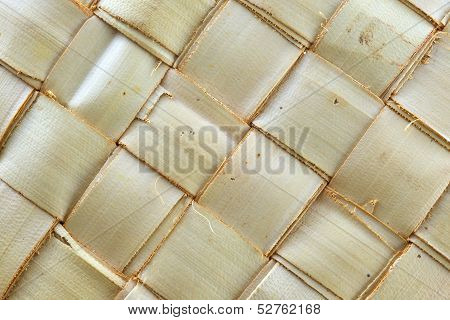 Weave Pattern Of Palm Leaves
