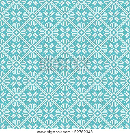 Seamless snowflakes background geometric pattern