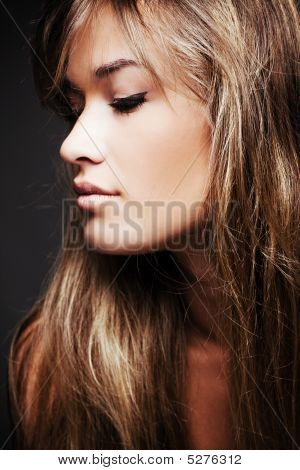 Blond Hair Woman Profile