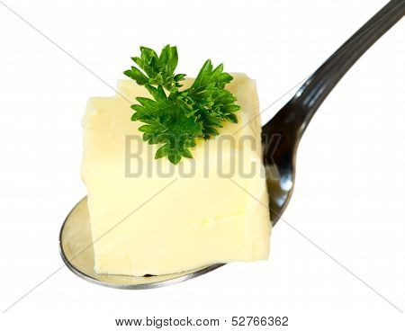Yellow Butter With Spoon