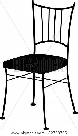Digitally drawn dining chair-  for interior design