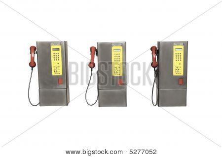 Trio Of Payphones