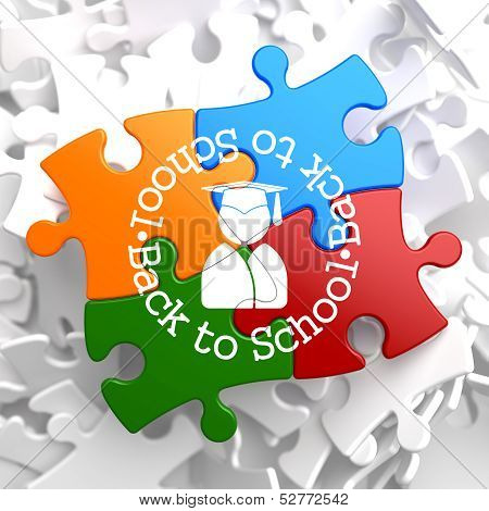 Back to School on Multicolor Puzzle.
