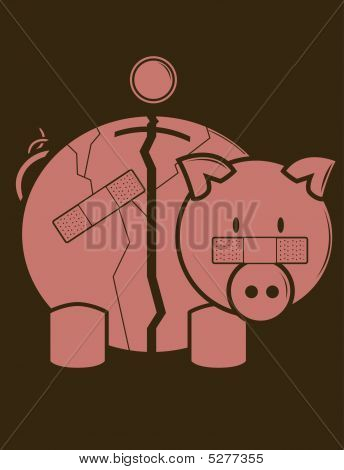 Fractured Piggy Bank
