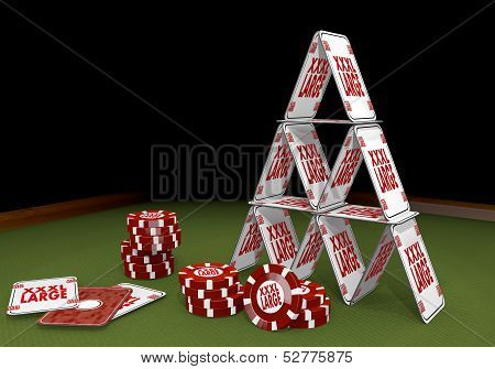Illustration Of A Isolated Xl Sign  On The Casino Table