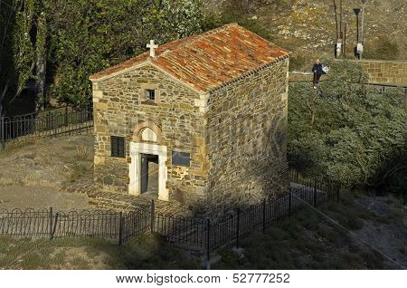 Ancient Orthodox Temple In Sudak, Crimea.