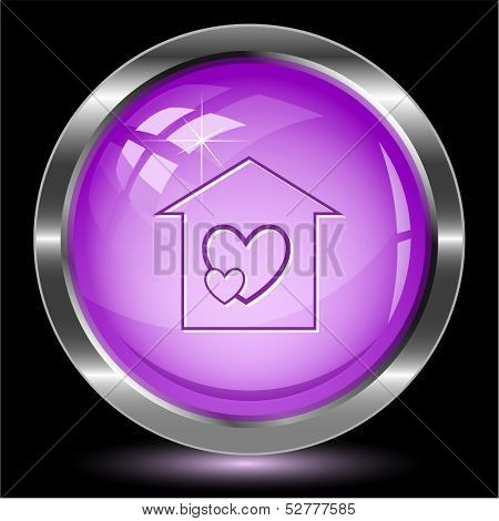 Orphanage. Internet button. Vector illustration.