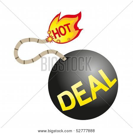 Hot deal sign