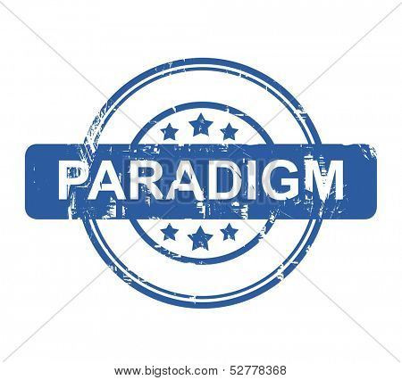 Paradigm business stamp with stars isolated on a white background.