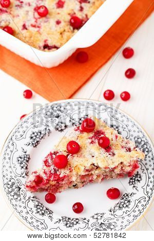 Slice of cranberry pie