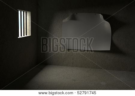 Prison with Blank Poster