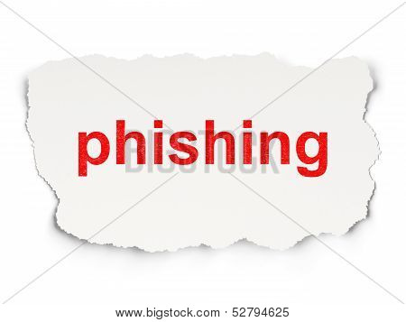 Privacy concept: Phishing on Paper background