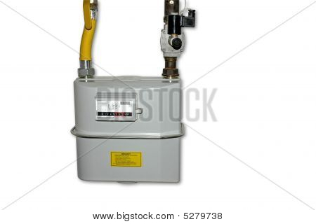 Natural Gas Meter. Isolated on white background