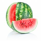 pic of watermelon slices  - Watermelon and Slice isolated on white background - JPG