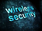 Safety concept: Wireless Security on digital background