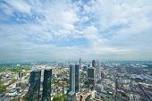 Frankfurt on Main cityscape, Germany. No brand names or copyright objects. poster