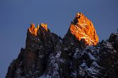 Tre Cime di Lvaredo, the Dolomites, Italy - sunset light